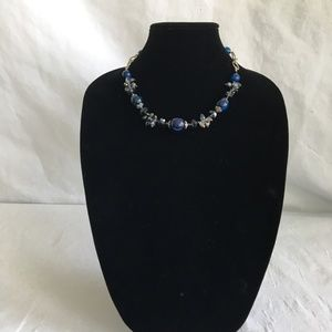 Jewelry - Blue and Grey Faceted Beaded Necklace